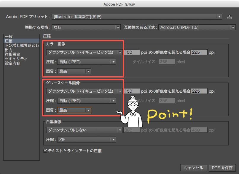 イラストレーター 軽く する pdf